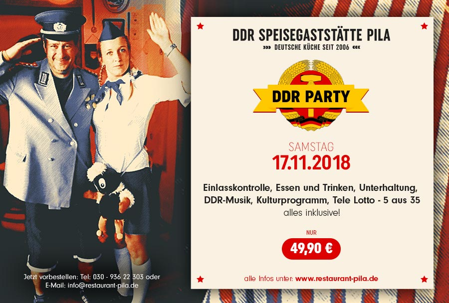 17.11.2018 - DDR Party im Restaurant PILA