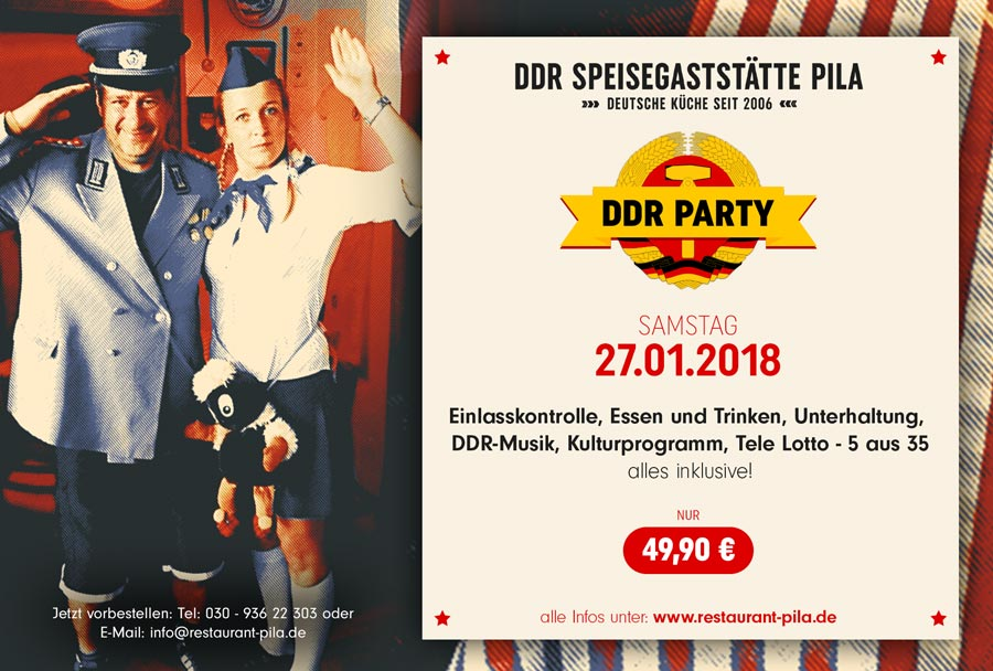 27.01.2018 - DDR Party im Restaurant PILA